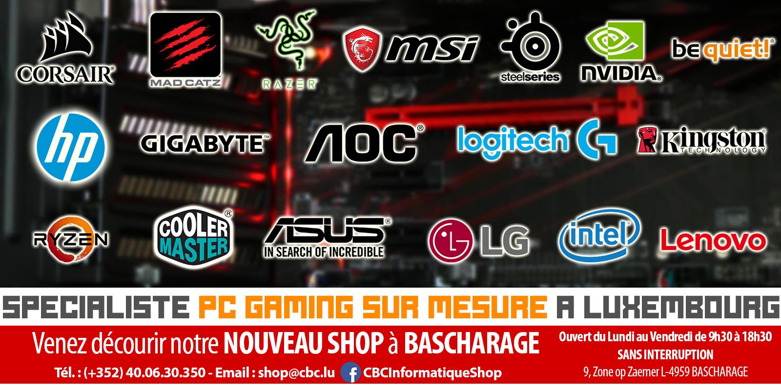 Spécialiste PC Gaming sur mesure à Luxembourg